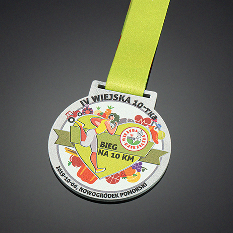 Medals for runners in color