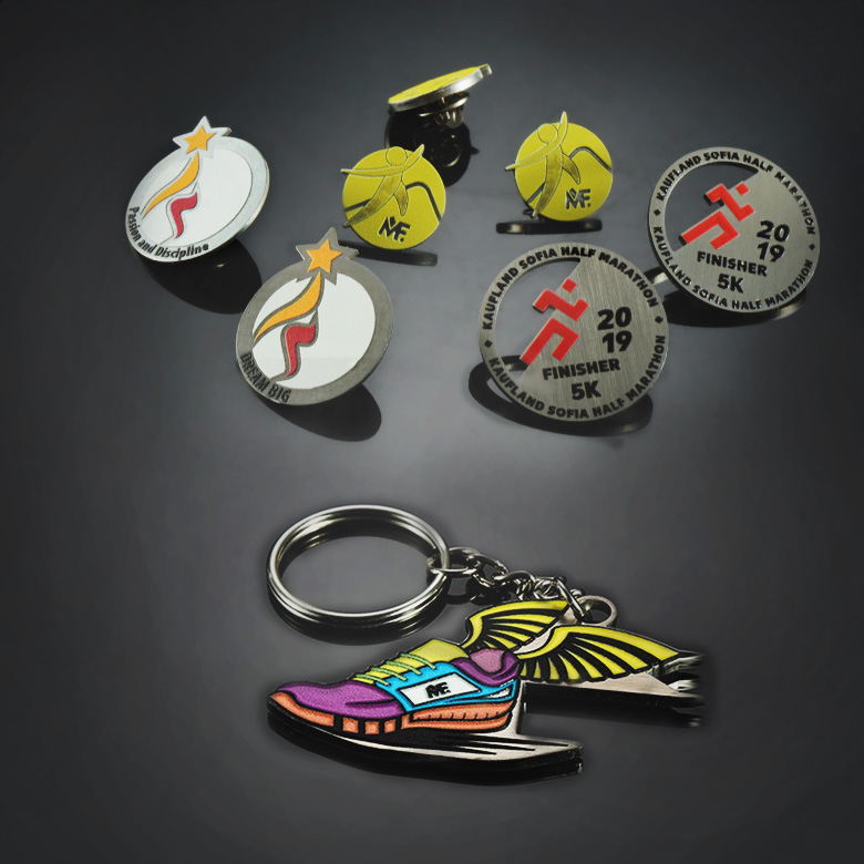 Pins and gifts for runners