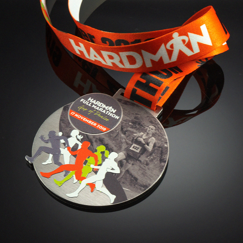Customized medal for a marathon