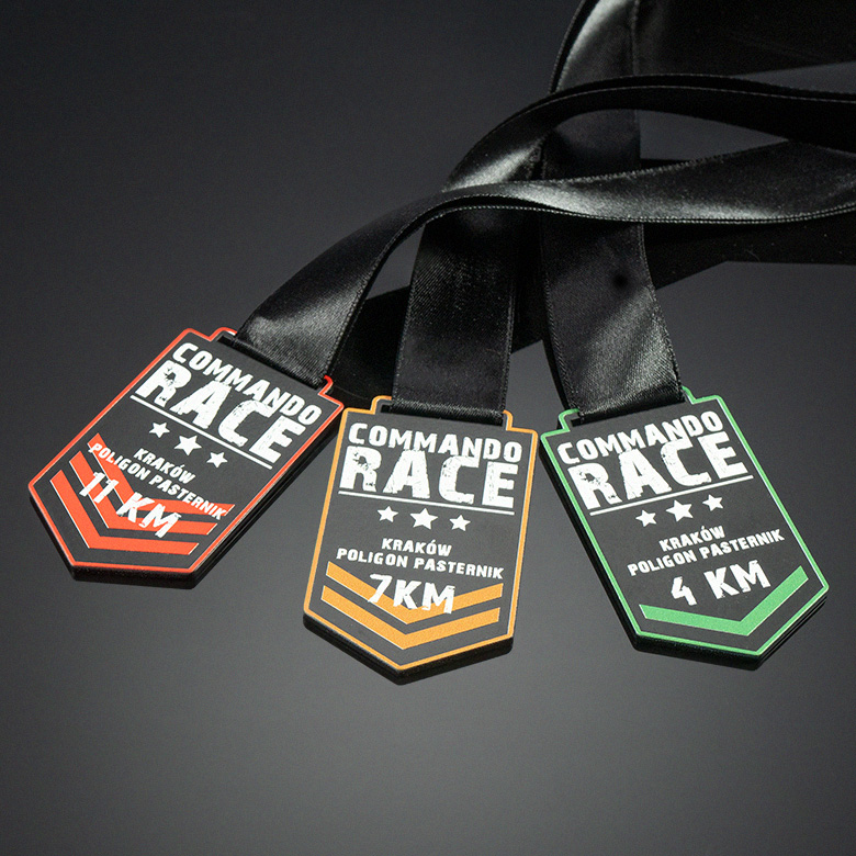 Medals for an obstacle race